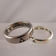 zelda inspired wedding rings