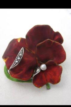 Meyle U0026 Mayer Sterling Enamel Pansy Pin. | Collectors Weekly