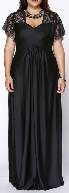 lace shoulder gown