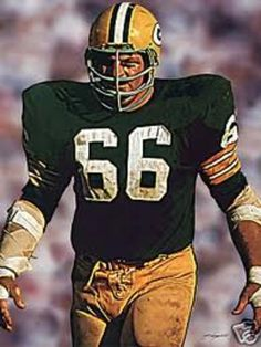 Fearsome player and more intense than almost any other football player.  But, after he quit he would appear at the Chicago Hardware Show and we would walk along the Oak Street Beach pathway each morning and he was absolutely charming.  Football was never discussed.  Ray Nitschke, Green Bay Packers.