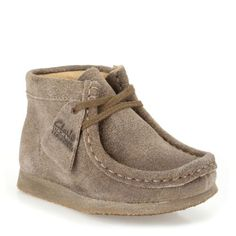 Boys Wallabee Boot First Taupe Distressed Suede - Clarks Originals Boys Boots - Clarks® Shoes
