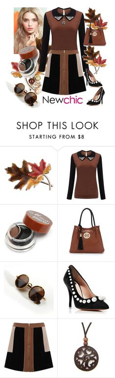 """Newchic"" by vaslida ❤ liked on Polyvore featuring Anne Klein, Jill Stuart, Boutique Moschino, Elvi, NOVICA, Vintage, chic, New and newchic"