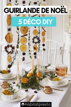 Guirlandes de Noël DIY : 5 déco de fête à faire soi-même #noel #noel2020 #noeltendance #noeldeco #deconoel #deconoelnature #deconoeldiiy #guirlandenoeldiy #guirlandenoelfaitmain #guirlandenoelsapin #guirlandenoelpapier #guirlandenoeldeco #guirlandenoelfacile #guirlandenoelenfant #guirlandenoel Deco Noel Nature, Christmas Decorations, Table Decorations, Holiday Decor, Dried Oranges, Bathroom Photos, Trends, Christmas Home, Garlands