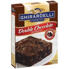 Ghirardelli Double Chocolate Brownie Mix - Baking Products - This is my favorite boxed brownie mix!  #GhirardelliChocolate