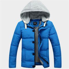 38.84$  Buy now - http://ali6ig.shopchina.info/1/go.php?t=32818254476 - 2017 Mens Winter Cotton-padded Clothes Short Wadded Jacket Fashion Hooded Coat Casual Warm Outerwear Slim  Men  M-3XL  #aliexpressideas