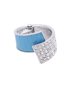 Leather + Pave Overlap Hinge Ring - ZR0038-TURQUOISE