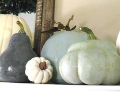 beachy blue pumpkins