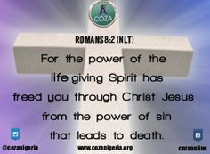 #Romans8vs2 #NLT #SavedByHisLife