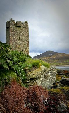 Granuaile's Tower, Kildavnet, Achill Island, Co. Mayo, Ireland by Harry Ormond