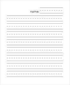 10 Best Kindergarten Lined Paper Images Kindergarten