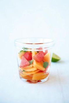 Rezept: Melone in Zitronengras-Sirup