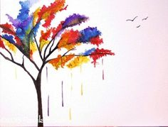 Watercolor Tree. $30.00, via Etsy.