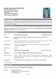 Best Resumes Endearing Resume Format For Mechanical Engineering Freshers It Resume Best Cv