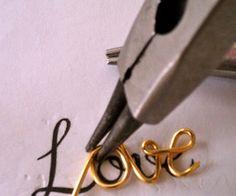 Love Script Necklace Tutorial