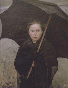 The Umbrella by Marie Bashkirtseff