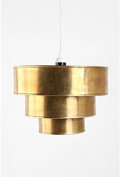 brass tiered pendant (kitchen), $64