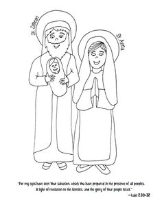 create coloring pages names anna   Anna and Simeon Puppet Crafts for kids to make with temple ...