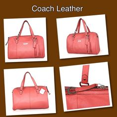 """💯%Authentic Coach Leather Handbag.🅿️🅿️. Ask me about installment payments....Accept 🅿️🅿️ or buy it at Mercari for $225....Pebbled soft leather with matching trim Handheld with cross-body strap and a zip top closure Double slide pockets, interior zip pocket Handle straps with 5"""" drop; Adjustable shoulder strap with 33"""" drop 12""""(L) x 7""""(W) x 5.5""""(D) Coach Bags"""
