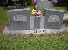 Perry Como Birth: May 1912 Canonsburg Pennsylvania, USA Death: May Cemetery Monuments, Cemetery Headstones, Old Cemeteries, Cemetery Art, Graveyards, Famous Tombstones, Perry Como, Famous Graves, After Life