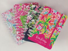 I have the first one! <3 Lilly.  Lilly Pulitzer Large Agendas via Lilly Pulitzer Blog #lillyagenda