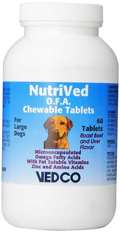 Vedco 60 Count Nutrived O.F.A. Chewable Tablets for Large Dogs -- Click image to review more details.