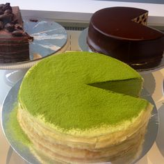 #Green Tea Crepe Cake. Delicious!