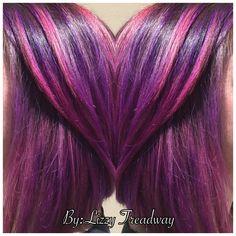 Purple pink hair @Hairfullofhart