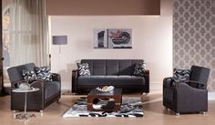 Luna Moss Gray Sofa Bed by Sunset