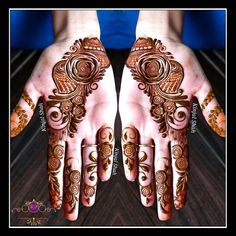 For mehndi order bookings and classes contact Henna Flower Designs, Mehndi Designs For Girls, Wedding Mehndi Designs, Mehndi Design Images, Flower Henna, Mehndi Designs For Fingers, Arabic Mehndi Designs, Arabic Design, Henna Tattoo Designs