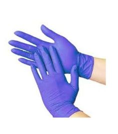 • Thickness: 3.5 Mil.• Blue Nitrile Disposable Gloves are competent for various purposes.• The Blue nitrile powder free gloves protects user's hand.• It provide fantastic results when being used during heavy duty.• Its ability to securely hold objects.• Protects users who have allergic reactions to the traditional latex.