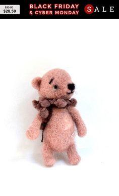 Black Friday Teddy bear Art Dolls Interior doll by SandalFelt