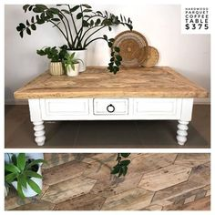 Claire aka The Shabby Chick® ( Parquetry, White Chalk Paint, Pure White, Entryway Bench, Hardwood, Shabby, Rustic, Pure Products, Storage
