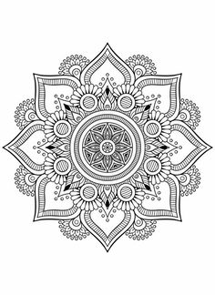 – Colouring pages - Malvorlagen Mandala Adult Coloring Book Pages, Mandala Coloring Pages, Colouring Pages, Coloring Books, Coloring Tips, Free Coloring, Mandala Art Lesson, Mandala Doodle, Mandala Drawing