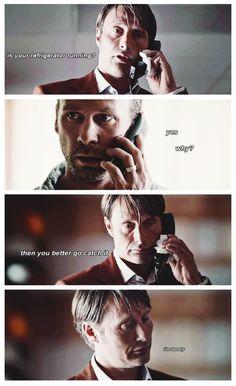 """Hannibal Jokes: Running Refrigerator (lol @ """"I'm lonely."""")"""