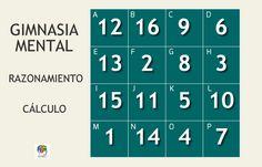 Reordenar tablero de números #gimnasiamental