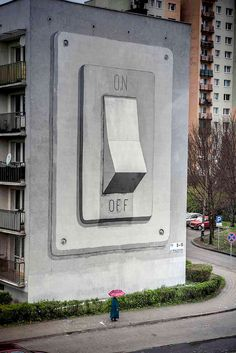 30 Wonderful Examples of Large Murals// I hv dreamed of this big button before..
