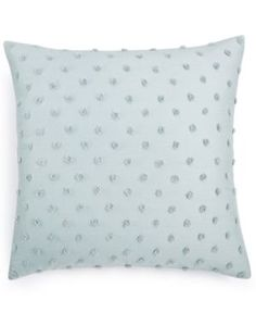"Calvin Klein Home Tinted Wake Raised Dot 18"" Square Decorative Pillow - Green"
