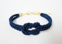 tie the knot bracelet knot silk rope braceletnautical by room7070, $9.00