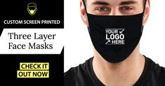 Need branded face masks for your business? We offer a wide variety of styles at great prices. Free shipping & design help.    #facemasks #screenprinting #promotionalproducts #branding