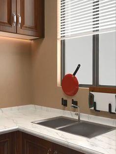 Kitchen accessories organizer cookware shelf wall hanging Kitchen – home accessories Diy Kitchen Storage, Diy Kitchen Decor, Diy Home Decor, Kitchen Ideas, Kitchen Organisation, Kitchen Rack, Life Organization, Rustic Kitchen, Furniture For Small Spaces
