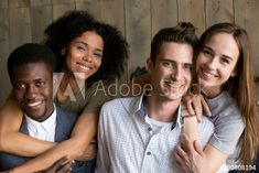 Portrait of two happy african american and caucasian couples embracing, young multiracial men and women in love hugging smiling looking at camera, diverse ethnicity and racial diversity concept Racial Diversity, Love Hug, Royalty Free Photos, Clip Art, African, Concept, Stock Photos, Portrait, Couple Photos