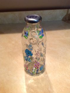 Painted snapple bottle