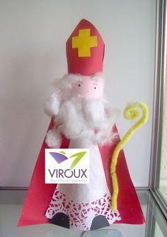 Saint Nicolas - bricolage Viroux Elf, Kindergarten, Birthdays, Holiday Decor, Christmas, Calendar, Preschool Crafts, Hand Crafts, Ideas
