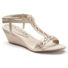 New York Transit Valid Thinking T-Strap Wedge Sandals - Women