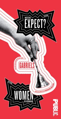 Poster for The Gabriels | by Pentagram (Paula Scher)