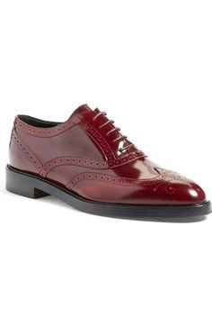 Burberry 'Gennie' Lace-Up Oxford (Women) available at #Nordstrom