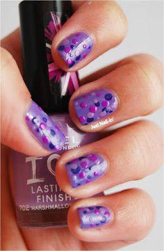 Purple Dots! #nails #nailart #purplenails #purple #polkadots #polkadotnails #nailoftheday #notd #aussienails #australiannails Polka Dot Nails, Purple Nails, Nailart, Nail Polish, Dots, Beauty, Stitches, Violet Nails, Purple Nail