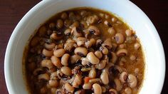 It would not be New Years Day for my Georgia born husband without these black eyed peas! Southern tradition says this dish brings good fortune and lots of money to the coming year, so why not? Lentils have a similar story to Italian families. Hopefully we'll be covered in both heritages. A tasty dish.