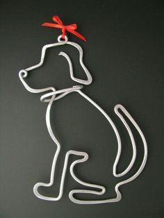 Items similar to Good Dog on Etsy - Aluminum wire shaped dog. (I have some of this wire… could use it to make a variety of shapes, l - Dog Jewelry, Animal Jewelry, Metal Jewelry, Beaded Jewelry, Handmade Jewelry, Jewellery, Wire Crafts, Jewelry Crafts, Sculptures Sur Fil