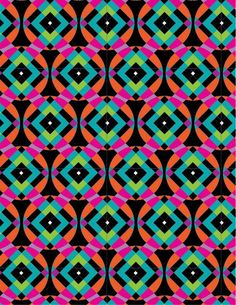 Geometric Patterns by Linda Webb at Coroflot.com #textiles #pattern #geometric